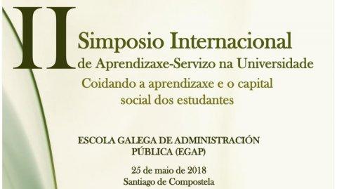 II Simposio internacional sobre aprendizaxe-servizo na Universidade: coidando o aprendizaxe e o capital social dos estudantes